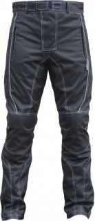 German Wear, Herren Motorradhose Textilien Motorrad Hose Kombihose Schwarz