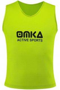 OMKA Fußball Leibchen Trainingsleibchen Markierungshemd Fußballleibchen Gelb