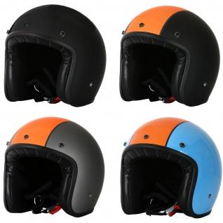 Marushin C-131 Motorrad Helm Jethelm Premium Line Halbschalenhelm