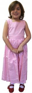 Mädchen Kinder Dirndl Mädchendirndl Kleid Rosa/Weiß kariert