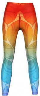 Orange & Blue Ombre Leggings sehr dehnbar für Sport, Gymnastik, Training, Tanzen & Freizeit