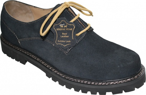 Trachtenschuhe Haferlschuhe echtem Leder Oktoberfest Schuhe dunkelblau