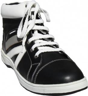 Sneaker leder Schuhe turnschuhe aus Glattleder Schwarz/Weiß