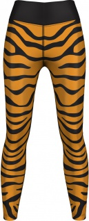 Leggings Tights dehnbar Sport Gymnastik Training Tanzen Freizeit Yoga , Tiger schwarz/gelb