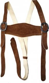 Klassische Stegträger für Trachten Lederhosen Hosenträger H-Träger Kastanienbraun