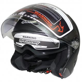 Marushin C-600 Motorrad Helm Jethelm Sonnenblende sportliche Tourenfahrer