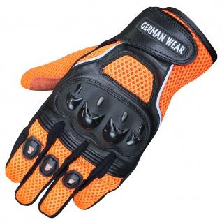 RadMasters, Motocross Motorradhandschuhe Biker Handschuhe Textilhandschuhe Orange