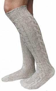 LANGE Trachtensocken Trachtenstrümpfe Zopf Socken 70cm Meliert