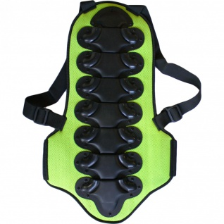 Rückenprotektor safty back protektoren für Motorrad, Ski, Snowboard Armour neongrün