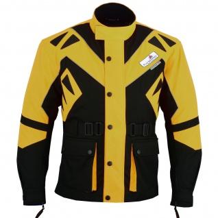 Motorradjacke Textilien Jacke Gelb