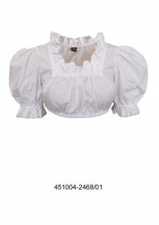 Trachtenbluse Damen Trachten Unterziehbluse Trachtenmode Weiß