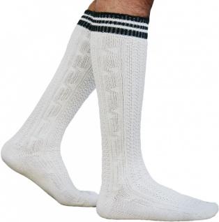 Lange Trachtensocken Strümpfe Socken aus Wolle Natur