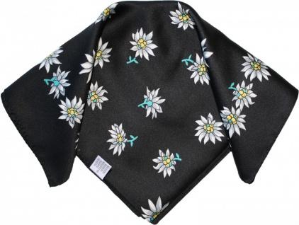Halstuch Trachtentuch Polyester Edelweiss-muster nikituch 50x50cm 11x Farbtöne - Vorschau 5