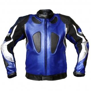 Lederjacke Motorradjacke Kombijacke aus Rindsleder - Vorschau 2