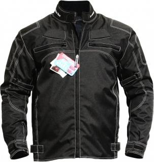 German Wear, Motorradjacke textilien Kombi Jacke schwarz