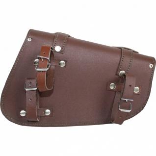 Motorrad Satteltasche saddlebag Motorradtasche Solobag Solo Tasche Werkzeugtasche aus Leder - Vorschau 2