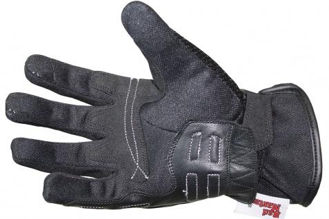 RadMasters, Motorradhandschuhe Biker Handschuhe Textilhandschuhe Schwarz - Vorschau 3