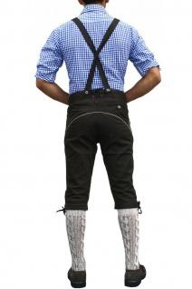 Trachten Kniebundhose Oktoberfest Jeans Hose mit Hosenträgern Schwarz - Vorschau 3