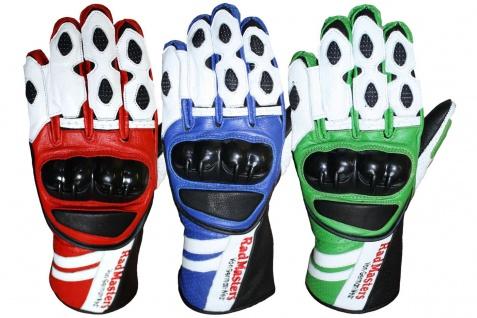 GermanWear Motorradhandschuhe Motorrad Biker Handschuhe Lederhandschuhe