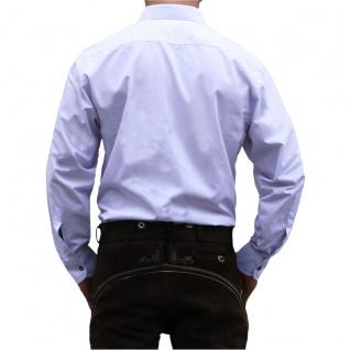 Trachtenhemd Hemd aus 100% Baumwolle Edelweiß bestickt - Vorschau 3