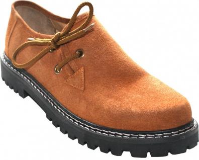 Trachtenschuhe Haferlschuhe Lederschuhe Trachten Schuhe aus Wildleder kastanienbraun