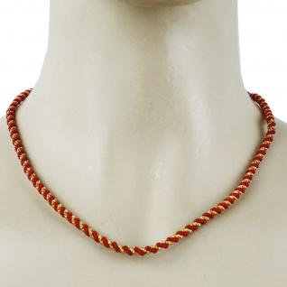 German Wear, Trachtenkordel Kordel Kette Anhänger Metall rot gold Trachten Tracht