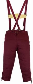 German Wear, Damen Trachten Kniebundhose Jeans Hose kostüme mit Hosenträgern Weinrot - Vorschau 3