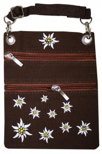 Trachtentasche Dirndl Tasche mit Edelweiss Trachten Baumwolltasche