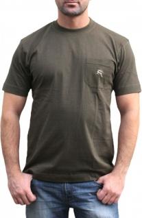 German Wear, 2er Pack Jagd T-Shirt für Trachten lederhosen Hirschstickerei Oliv