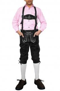 Jungen Kniebundhosen Leder Trachtenhose mit Hosenträgern - Vorschau 5