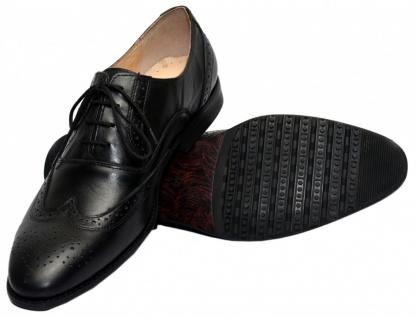 Business-schuhe Oxford Brogues Lederschuhe Schuhe Schwarz - Vorschau 2
