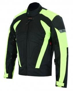 Motorradkombi Textilien motorradjacke + Motorradhose Schwarz, Grün & Orange inkl. alle Protektoren - Vorschau 4