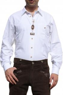 German Wear, Trachtenhemd für Trachten Lederhosen mit Verzierung Trachtenmode wiesn weiß - Vorschau