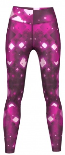 Crystalline Leggings sehr dehnbar für Sport, Yoga, Gymnastik, Training & Fashion Violett