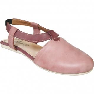 German Wear, Geschlossene Sandale aus echtem Leder lederschuhe Trendschuhe rosa