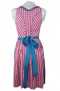 1-teiliges Midi-Dirndl Landhaus Kleid ohne Bluse Dirndel Pink kariert - Vorschau 3