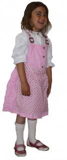 3-tlg Kinder Dirndl Mädchendirndl dirndlbluse dirndlschürze kleid Rosa - Vorschau 3