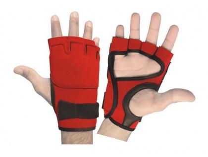 Fitness Neopren Handschuhe Gewichtheben Bodybuilding Gelpads Workout Training rot/schwarz
