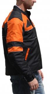 Textilien Jacke Motorradjacke Kombigeeignet Schwarz/Orange - Vorschau 4