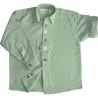 Kinder Trachtenhemd knaben Trachtenlederhosen mit Edelweiss Grün-karo