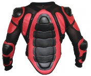 German Wear, Protektorenjacke Motorrad Motocross Skatebording protektoren Armour Rot