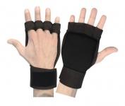 Fitness Neopren Grips Handschuhe Gewichtheben Bodybuilding Gelpads Workout Training schwarz