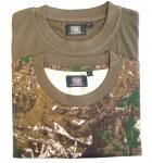 2er Pack Jagd T-Shirt für Trachten lederhosen Waldtarn/Oliv