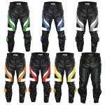 GermanWear Motorradhose Motorrad Biker Lederhose mit Slider in 7x Farbauswahl
