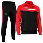 OMKA Trainingsanzug Sportanzug Jogginganzug Freizeitanzug Rot