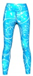 Galaxy Leggings sehr dehnbar für Sport, Gymnastik, Training & Fashion Blau