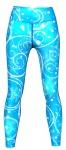 Galaxy Leggings sehr dehnbar für Sport, Yoga, Gymnastik, Training & Fashion Blau