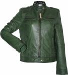 Damen Lederjacke Trend Fashion echtleder Jacke aus Lamm Nappa Leder grün