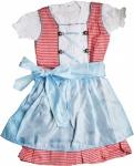 3-tlg Kinder Dirndl Mädchendirndl Dirndlbluse Dirndlschürze Kleid Rot/Blau Kariert Schürze