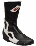 German Wear, Biker Motorradstiefel Motorrad Racing Sport Touring Stiefel Schwarz und Weiss 29cm